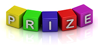 Prize text on color cubes