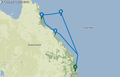 Map Barrier Reef 400